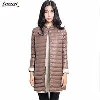 1PC Thin Down Coat Winter Jacket Women Winter Coat Women Long Coats Outerwear Parka Manteau Femme