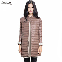 1PC Thin Down Coat Winter Jacket Women Winter Coat Women Long Coats Outerwear Parka Manteau Femme
