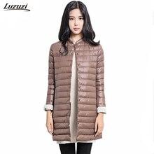 1 шт. тонкая пуховая куртка зимнее пальто Для женщин длинные пальто Верхняя одежда парка Chaquetas Mujer манто Femme Z009