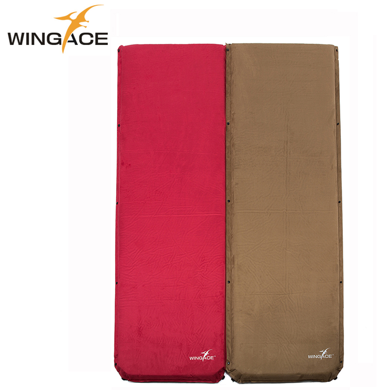 WINGACE Outdoor Camping Mat Inflatable Mattress Suede Damp-proof Air Bed Camping Tent Mat Sleeping Pad Air Mattress rockies single183cm x 55cm r3 8 thermal resistance watetproof cushion sleeping mattress pad air bed
