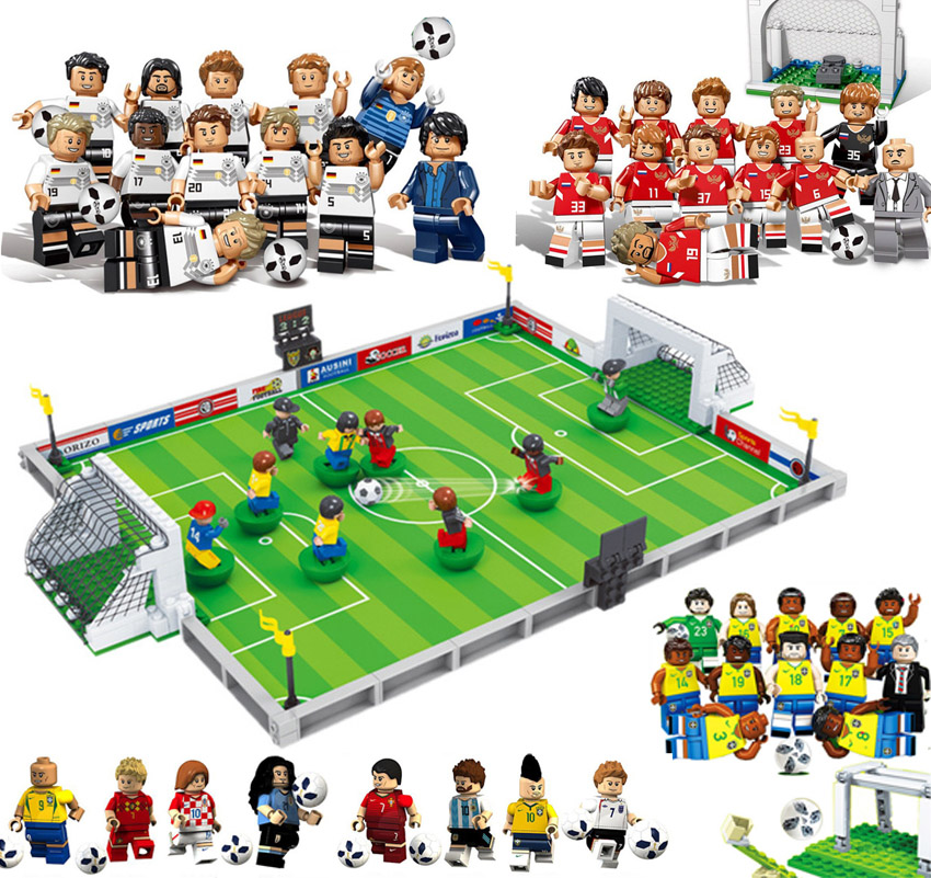 New World Football Team Player Football Field Fit legoings Soccer figures Ronaldo Messi Building Blocks Bricks Toy kids gift CupNew World Football Team Player Football Field Fit legoings Soccer figures Ronaldo Messi Building Blocks Bricks Toy kids gift Cup
