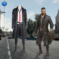 New Arrival Hot Game PLAYERUNKNOWN'S BATTLEGROUNDS Costume Men Leather Suit PUBG Cosplay Costume Halloween Costumes For Men