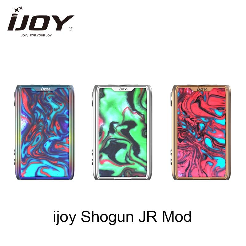 Original Ijoy SHOGUN JR boîte mod 126 W Vape E cigarette mod adapté pour SUBOHM réservoir vaporisateur UNIV puce-set mod VS Voopoo glisser mod
