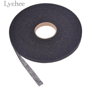 Lychee 100 м 1 см ширина проклеенные накладки белый черный ткань железо на односторонний швейный материал для гареметов