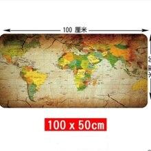 WESAPPA 100X50/90X40 см, Карта мира, резиновый коврик для мыши, большой коврик для мыши, настольные коврики, большие коврики для мыши, игровой ковер XL для офисных игр