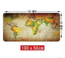 Wesappa 100X 50/90X40CM Wereldkaart Rubber Muismat Grote Muis Mat Bureau Matten Grote Muismatten Gaming Tapijt Xl voor Kantoor Gaming