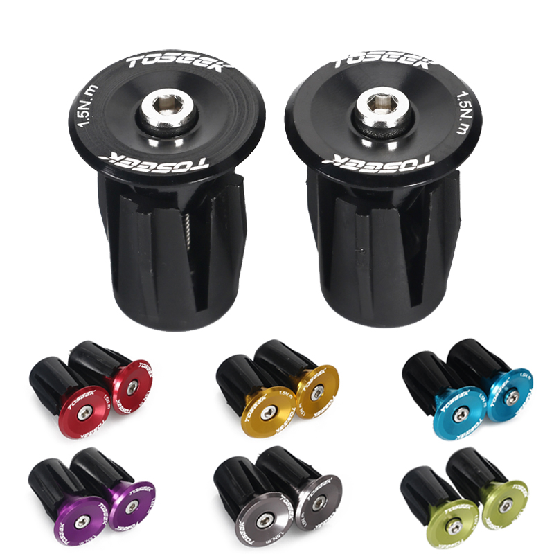 Bike Lightweight Bar End Plugs Aluminum for Road Bicycle Grip Anti-slip Firm Handlebar Caps Accessory 2pcs