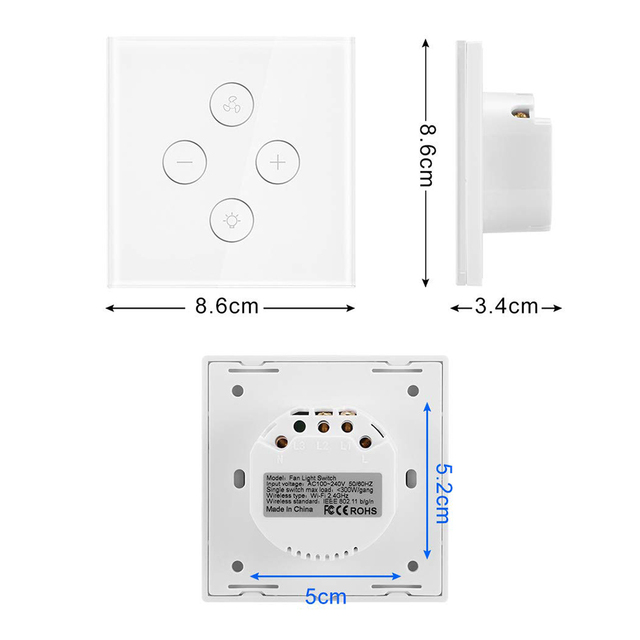 WiFi  Remote Fan and Light Control