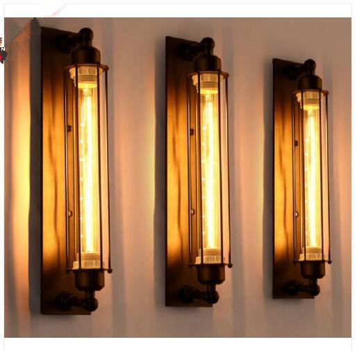 Loft American vintage wall lamp bed-lighting eye-lantern wall lights E27 Edison Bulb Plated Iron Retro Industrial Home Lighting american rustic single head wall lamp fashion vintage bed lighting wall lamp