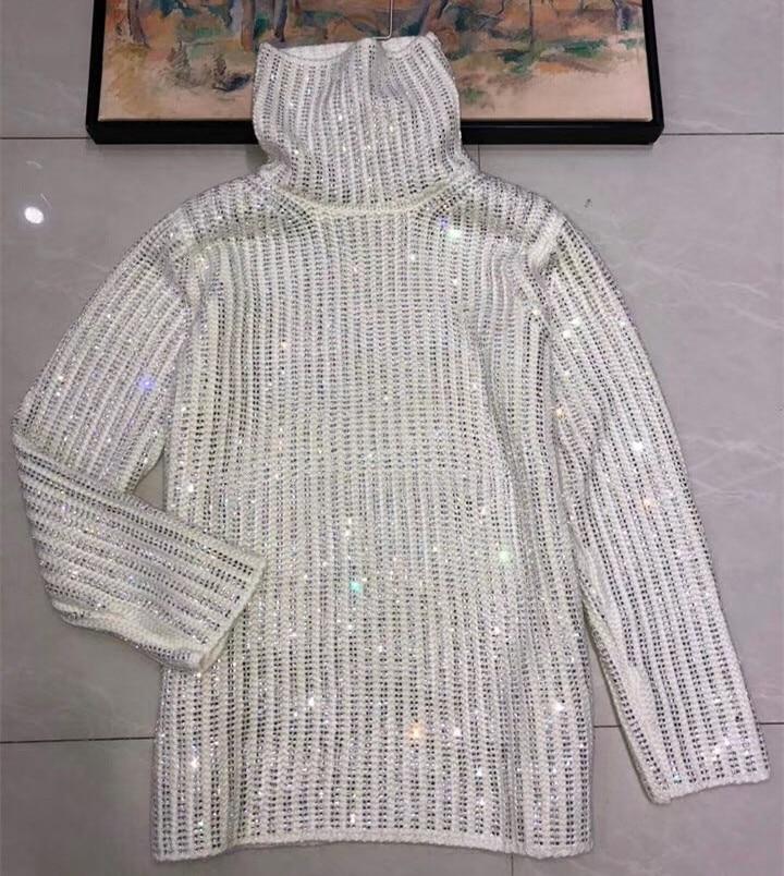Truien, зима 2019, подиумный дизайн, роскошный, шикарный, горячая Распродажа, водолазка, вязаный свитер, женский, большой, пуловер, черный, белый