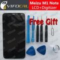 Meizu m1 note display lcd + touch screen de alta qualidade reparação de Acessórios Para MTK6752 1920x1080 FHD 5.5 polegada Do Telefone Gratuito navio