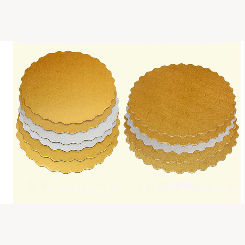 2pc Gold Round Cake Board Circle Base 12inch Gold Silver
