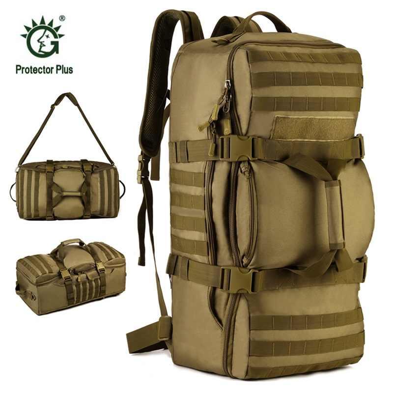 b7625fd97 Militar Tactical mochila 60l gran capacidad de camping Bolsas al aire libre  trekking senderismo bolsa grande