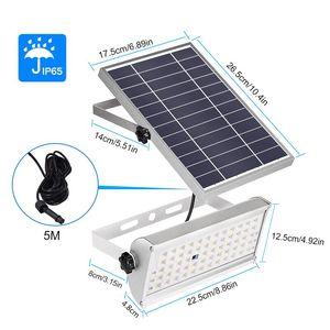 Image 2 - Светильник на солнечной батарее, 1500 лм, водонепроницаемый садовый светильник ing, 65 светодиодов, два режима работы с пультом дистанционного управления, светильник с датчиком движения