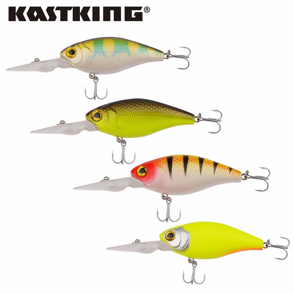 KastKing 2017 Hot Sale 110mm 20g Crankbait Top Quality Fishing Lures Fishing Tackle 5 color Minnow fishing bait Hook Soft Bait