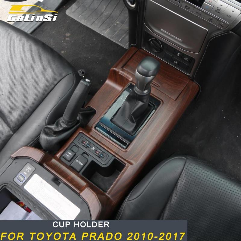 Gelinsi pour Toyota Prado 2018 voiture style bois support de verre panneau couverture garniture cadre autocollant accessoires d'intérieur
