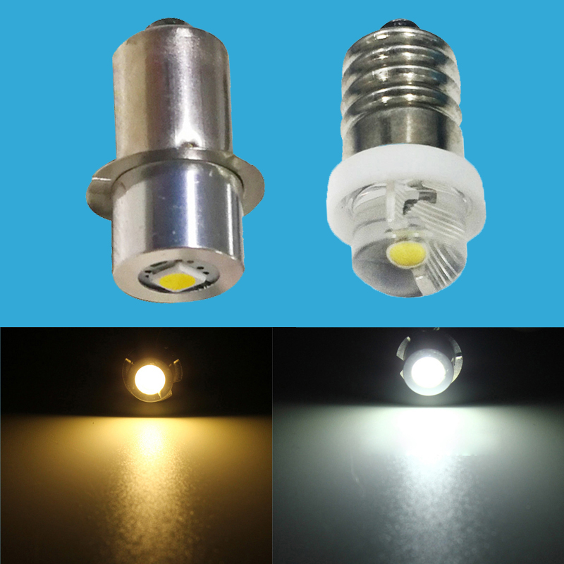 0.5W 1W 3W E10 P13.5S LED Flashlight Bulb Lamp 3V 6V 9V 12V Led Bulb Replacement Flashlight CREE Torch Bulb 3 Volt Screw Bulb