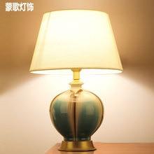 Tuda Free Shipping Retro Painted Vase Ceramic Table Lamp European Style Ceramic Table Lamp Decorative Desk Lamp E27 110V-220V недорого
