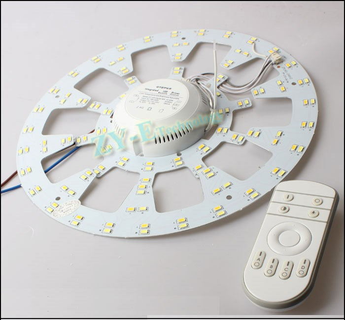 2set led pcb 12W 18w 24w LED PANEL Circle Light SMD 5730 Round Mix color Ceiling board +Dimmable Driver with remote controller