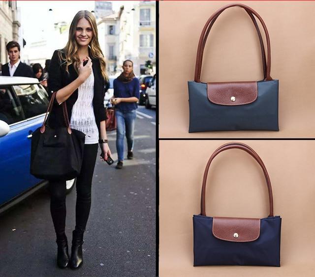 2019 Famous Brands Women Bags Shoulder Bag Handbag Waterproof Nylon Leather Beach Bag Designer Folding Tote Bolsa Sac Feminina by Badenroo