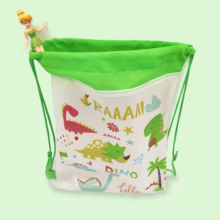 1pc Dinosaur Drawstring bag for kids Birthday Party Favors Travel Storage Package Cartoon School Backpacks Children Green