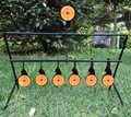 Airgun 7-Plate Reset Target /Not For Airsoft Paintball Archery Shooting/Improving Hunting Shooting Tactical Skill/Outdoor&Indoor