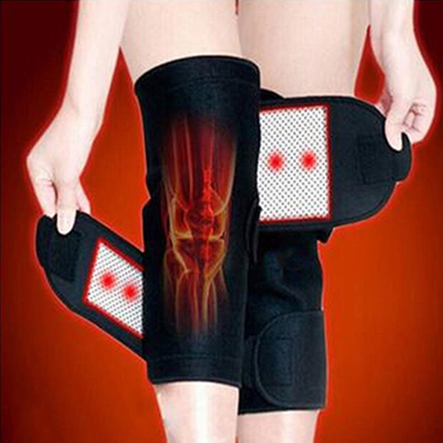 1 Pair Tourmaline Self Heating Knee Pads Magnetic Therapy Knee Support Belt Knee Massager
