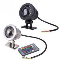 Водонепроницаемый подводный светильник для водоемов аквариум пульт дистанционного управления светодиодные лампы контроллера 10 Вт AC/DC 12 V ...