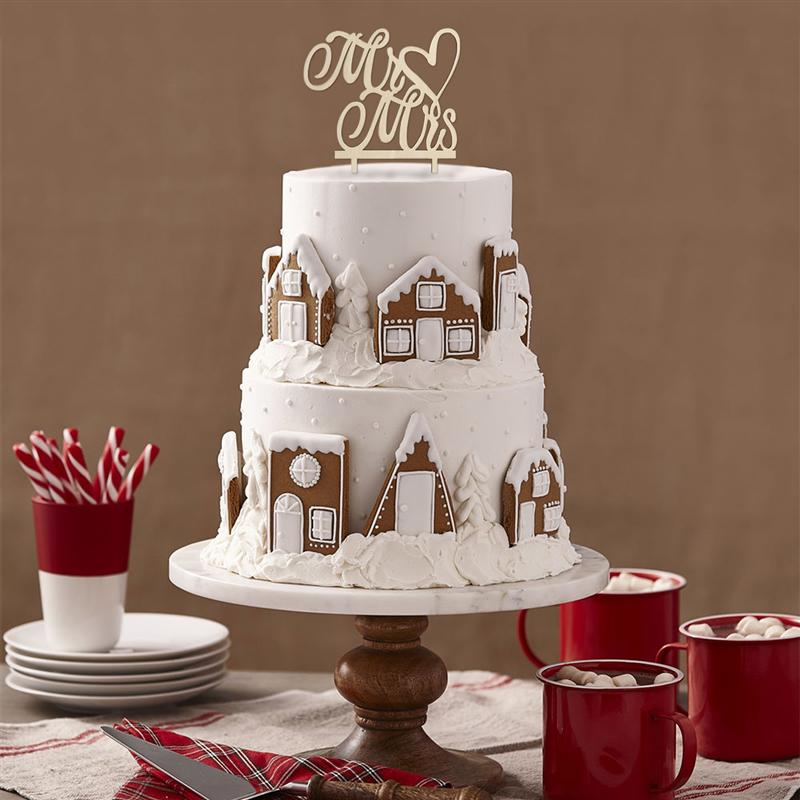 Mr Mrs Cake Topper Wood Wedding Cake Decorations Cupcake Toppers