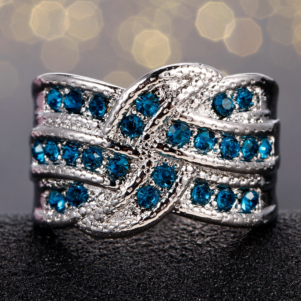 HTB1 .pIKeuSBuNjSsplq6ze8pXai Fine Jewelry Luxury Party Queen Aquamarine Finger Rings For Women 925 Silver Jewelry Wedding Engagement Ring Gift Wholesale