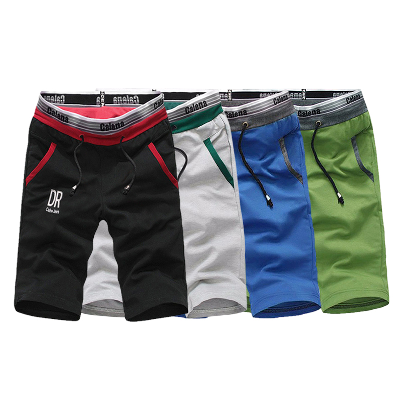 New Summer Mens Moletom Masculino Shorts 5XL Pocket Shorts para hombres Cintura elástica Carta Emboridary Men Jogger Beach Shorts 2019
