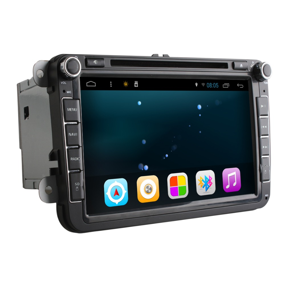 Quad Core 1024 600 Android4 4 16GB ROM 2Din Car DVD GPS Navigation Navigator Radio Player