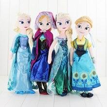 40 см-50 см принцесса мягкие плюшевые куклы снеговик олень ледяная принцесса игрушки для девочек детские рождественские подарки