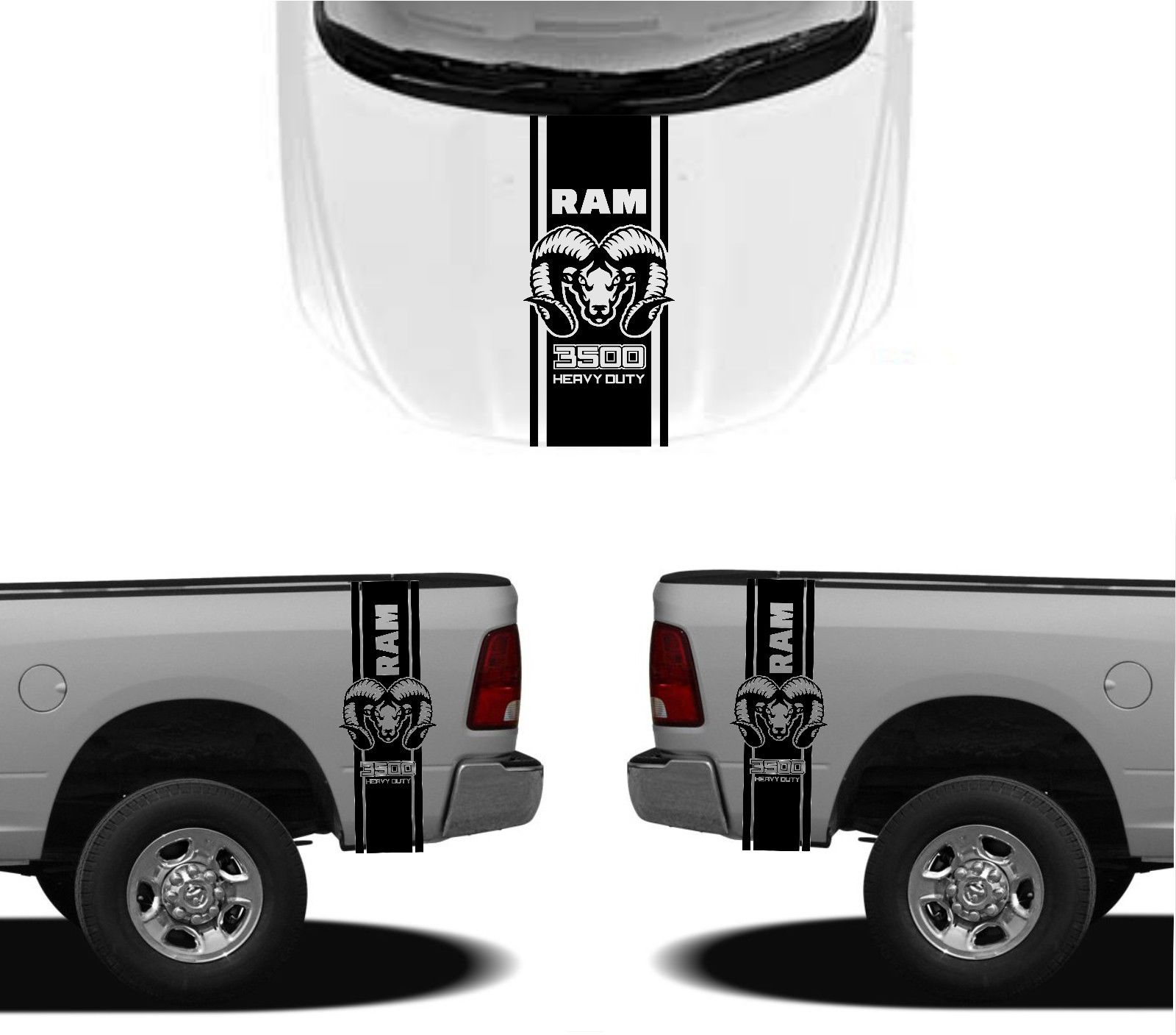 Detail feedback questions about car styling for 3x dodge hood fender decals ram hemi 3500 1500 graphics vinyl body stickers on aliexpress com alibaba