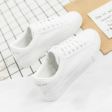 2019 Fashion White Sneakers Women Flats Canvas Shoes