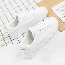 2019 Fashion White font b Sneakers b font font b Women b font Flats Canvas Shoes