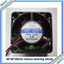 Хорошего качества 10 шт. в партии 24VDC 40*40*20 мм рукав бесщеточный промышленный вентилятор охлаждения