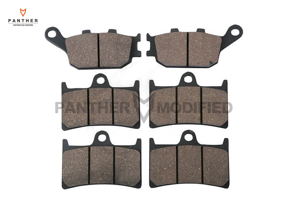 1 Set Semi-Metallic Motorcycle Front & Rear Brake Pads Brake Disks case for YAMAHA FZ1 1000 Fazer ABS 2006- 1 set motorcycle front
