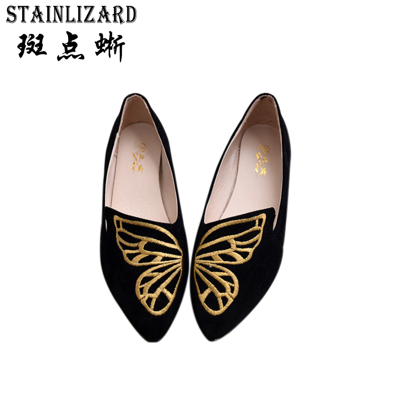 2017 Summer Women Flats Pointed Toe Solid Women Casual Shoes New Fashion Solid Flat Ladies Shoes ST433 new hot spring summer high quality fashion trend simple classic solid pleated flats casual pointed toe women office boat shoes