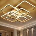 Квадратные Кольца Circel Люстра для гостиной  спальни  дома  AC90-265V  современные светодиодные потолочные люстры  светильники  бесплатная достав...