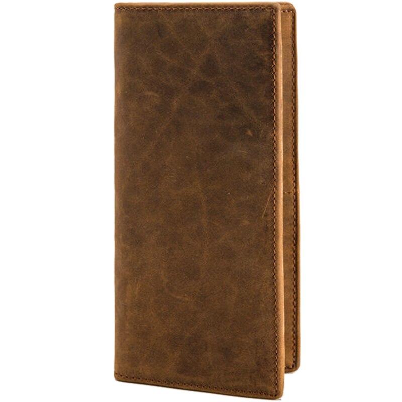 Wallet Men Leather Genuine Men's Vintage Horse Cowhide Leather Brand Design Wallet Purse Cell Phone Credit Card Holder T1002 цена 2017