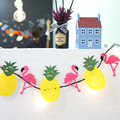 1set Flamingo Pineapple Garland Decoration Brace Birthday Party Decor Adornment Wedding Party DIY Decorative Crafts