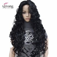 26inch Long Wavy Synthetic Wig Black Full Wigs For Women COLOUR CHOICES