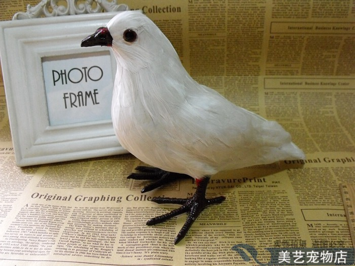 simulation pigeons font b toy b font lifelike white peace dove doll gift about 22x10x18cm
