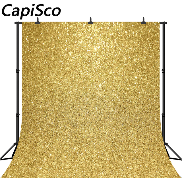 CapiSco Gold Glitter Birthday Party Love Baby shower Portrait photography backdrops wedding Photo Background For Photo Studio