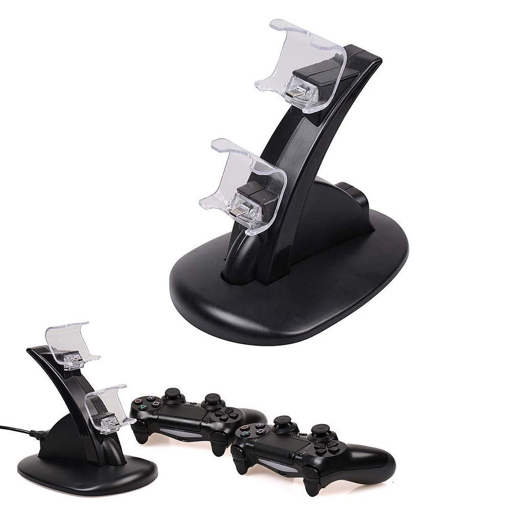 Quality Dual USB Charging Dock Station Stand For PS4 Play Station 4 Game Controller Handle Charger Cradle Bracket for PS 4