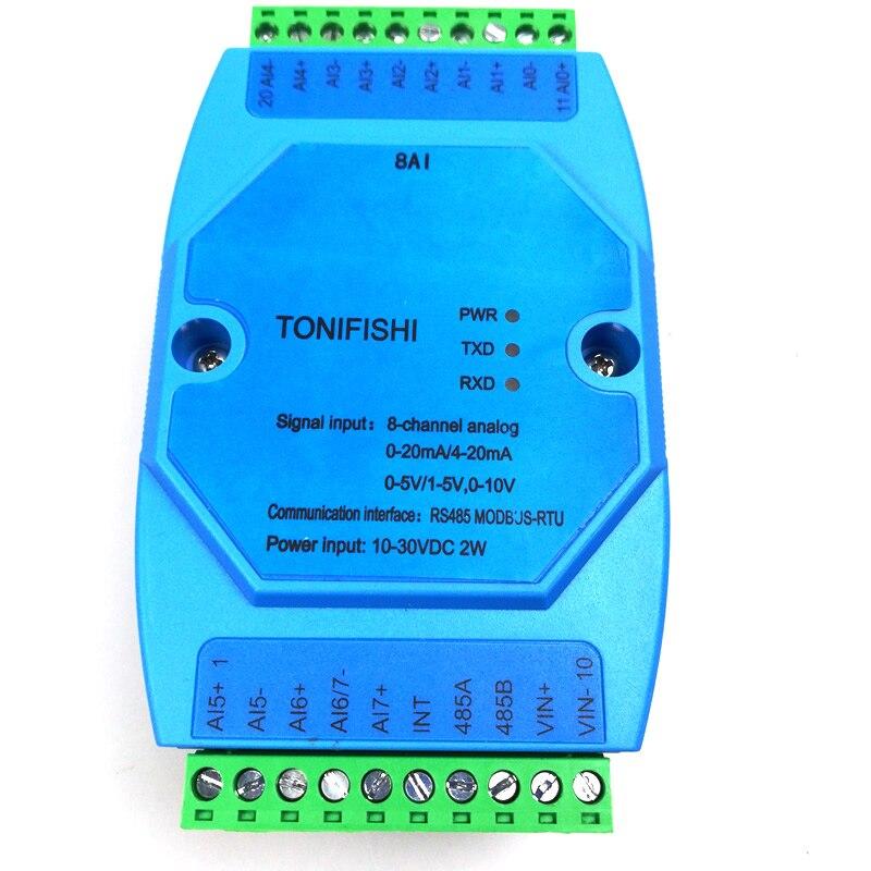 8 channel analog input module analog input to 485 Compatible type 4 20mA 0 20mA 0