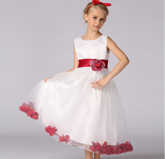 Aliexpress.com : Buy purple red wedding dresses for little girl ...