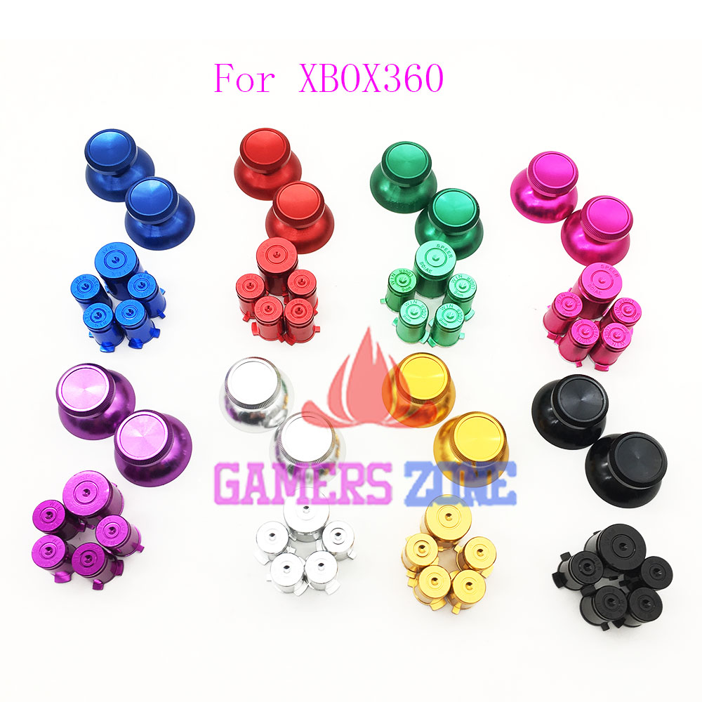 Metal Thumbsticks and Bullet ABXY&Guide Buttons for Xbox 360 Controllers 3cleader® metal thumbsticks thumbgrips and bullet abxy