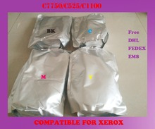 Free shipping refill color font b toner b font powder compatible for xerox c7750 c525 c1100